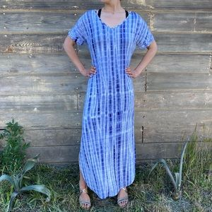 UNBRANDED | tie dye maxi shirt dress